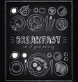vintage poster breakfast menu sketches for vector image vector image