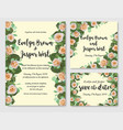 wedding floral watercolor style invite rsvp save vector image vector image