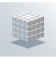 modern cube business background vector image