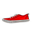 red sneakers icon flat of sneakers vector image