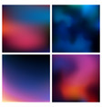 abstract red blue black blurred background vector image vector image