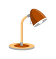 adjustable desk light lamp icon in flat style vector image vector image