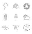 Air temperature icons set outline style vector image vector image