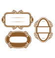 Antique vignettes and frames vector image vector image