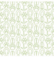 background pattern with paw prints icons vector image
