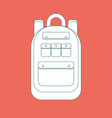 backpack icon simple flat vector image