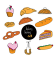 bakery assortment vector image