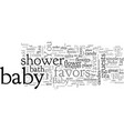 bashower favor ideas and tips vector image vector image