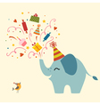 Birthday greeting card vector image vector image