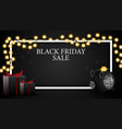 black friday sale discount horizontal template vector image