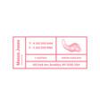 business card template contour map logo vector image