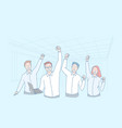 business teamwork win achievement excellence vector image vector image