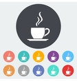 Cafe flat single icon vector image vector image