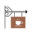 cafe sign coffee related flat style icon vector image vector image