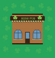 cartoon building an irish pub or cafe vector image