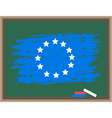 chalk flag of europe vector image vector image