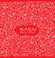 christmas icon holiday background happy new 2018 vector image vector image