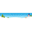 Christmas winter banner vector image vector image