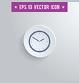 clock symbol icon on gray shaded background vector image vector image