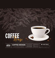 coffee advertising concept with cup beverage vector image