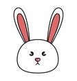 cute animal rabbit kawaii style vector image