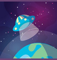 cute cartoon ufo space ship