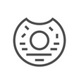 donut sweet icon vector image