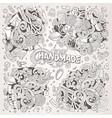 doodle cartoon set of handmade object vector image vector image