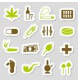 drugs stickers vector image vector image
