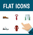 flat icon dress set of clothes trunks cloth vector image vector image