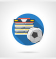 football tournament color detailed icon vector image vector image