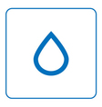 forecast weather Water drop icon vector image vector image