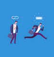 full of energy and tired businessman powerful and vector image vector image