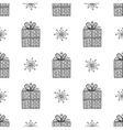 gift and snowflake christmas seamless pattern vector image vector image