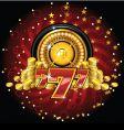golden roulette wheel vector image vector image