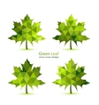 Green mosaic maple leaf vector image vector image
