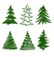 green spruces vector image vector image