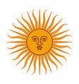 heraldic sun vector image vector image