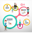 infograpics with people layout vector image vector image