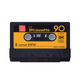 isolated classic audio cassette vector image