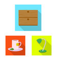 isolated object of dreams and night icon set of vector image