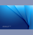 minimal blue geometric shapes background vector image vector image