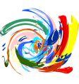 multicoloured background vector image