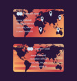 navigation service set business cards world vector image vector image