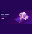 online library or education isometric concept vector image vector image
