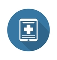 Online Medical Services Icon Flat Design Long vector image