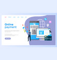 online payment web page computer and smartphone vector image vector image