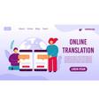 online translation mobile service landing page vector image