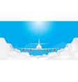 plane is flying vector image