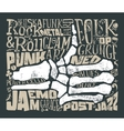 Print for T-shirt Rock music vector image vector image